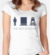 Man hat tan Tee - Best - Yankee Blue Lettering Women's Fitted Scoop T-Shirt
