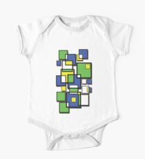 Abstract squares! One Piece - Short Sleeve