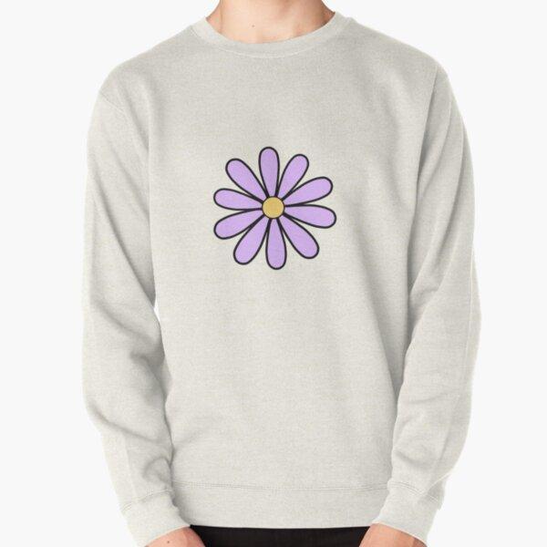 Purple Daisies Pullover Sweatshirt