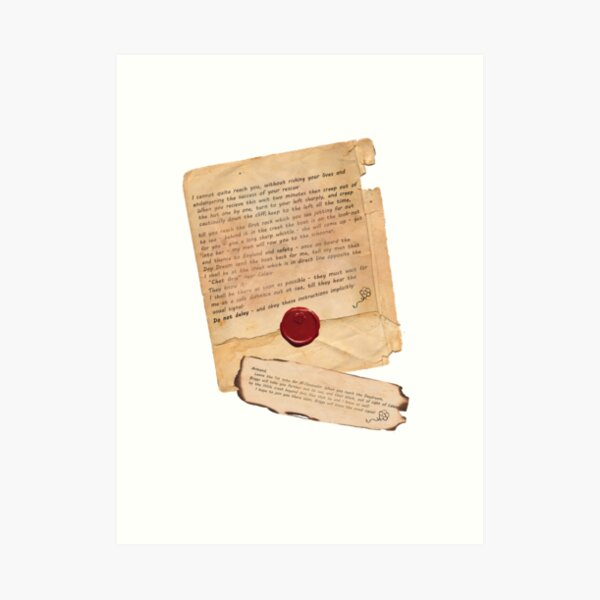 The Scarlet Pimpernel Escapes Art Print