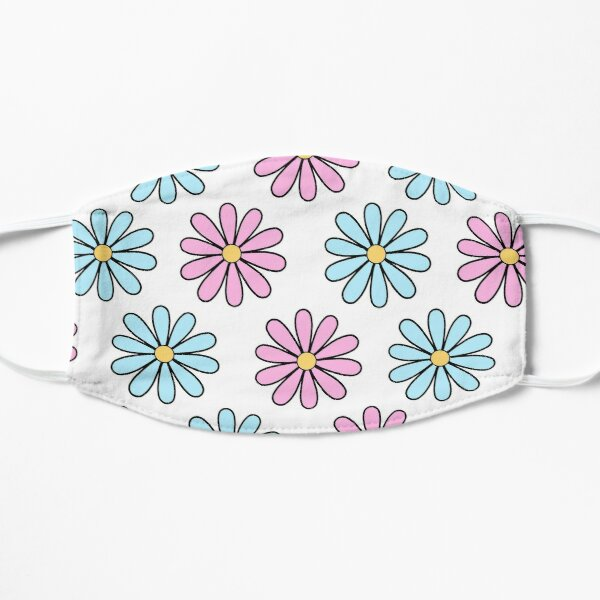 Pink and Blue Daisies Mask