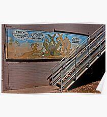 Aussie Critters Stairway Poster