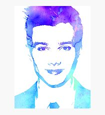 chris in blue Photographic Print