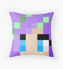iHasCupquake Minecraft skin Throw Pillow