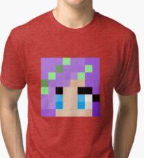 iHasCupquake Minecraft skin Tri-blend T-Shirt