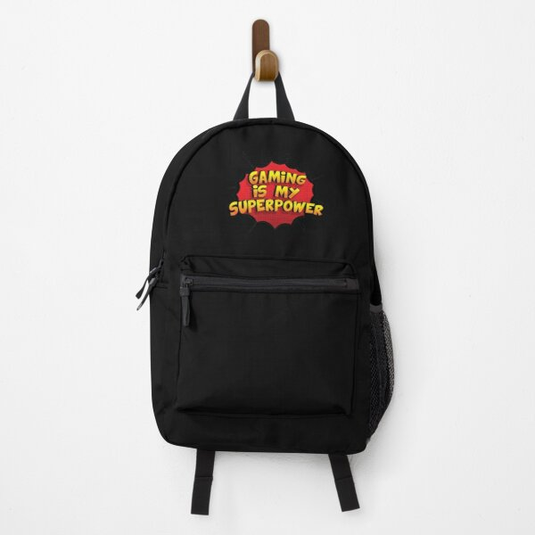 Gaming is my Superpower Funny Design Gaming Gift Backpack