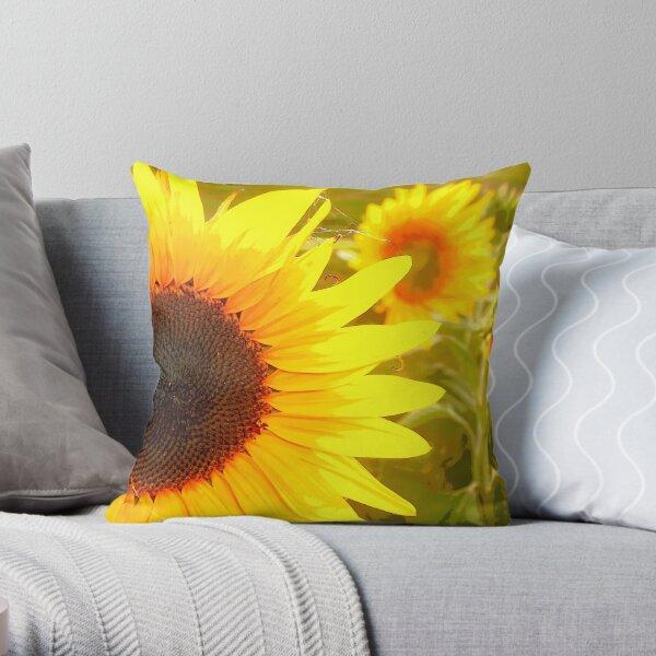 Sunflowers Waking Throw Pillow