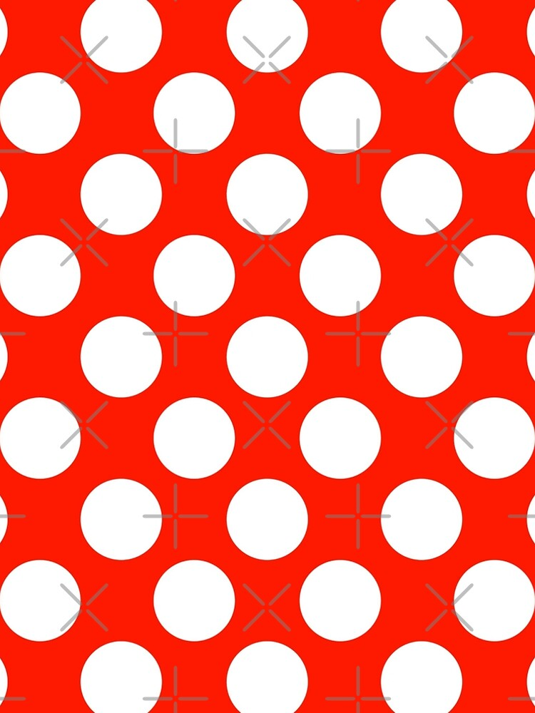 Big polka dots, red,white,modern,trendy,pattern by love999