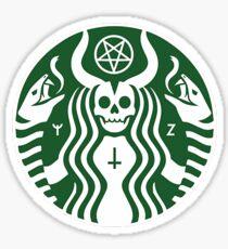 The satan-buck Sticker