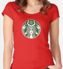 The satan-buck Women's Fitted Scoop T-Shirt
