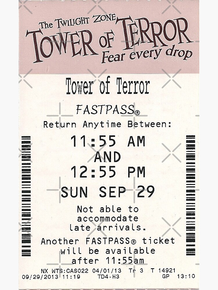 Tower of Terror Fastpass by SophiaKno