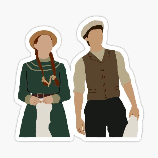 Minimalist Anne and Gilbert Sticker