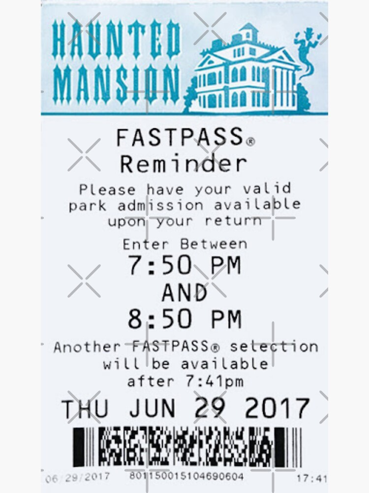 Haunted Mansion Fastpass by SophiaKno