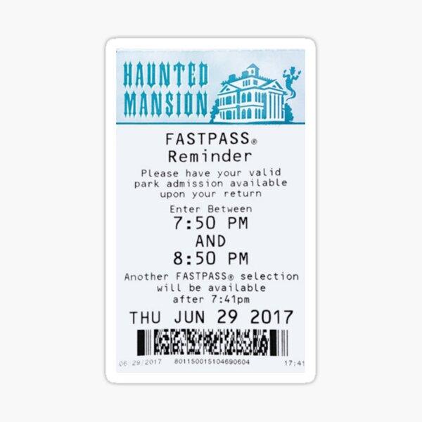 Haunted Mansion Fastpass Sticker