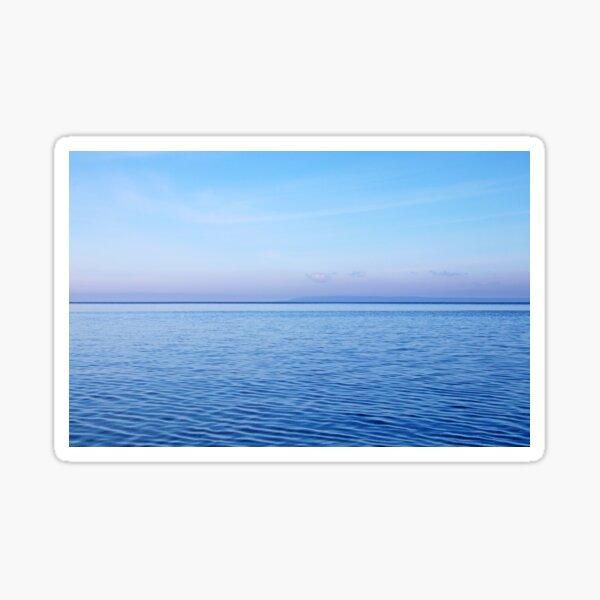 Georgian Bay Blues Abstract Sticker