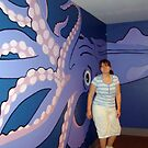 Giant Squid On The Wall, Mystic CT by Jane Neill-Hancock