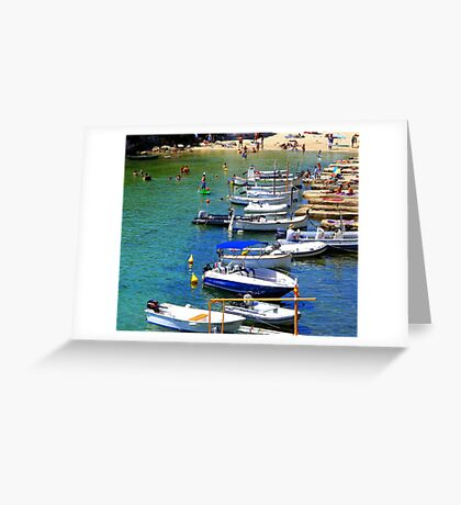 Cala Alcaufar Harbour Greeting Card