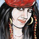 Girl in The Red Beret by Reynaldo