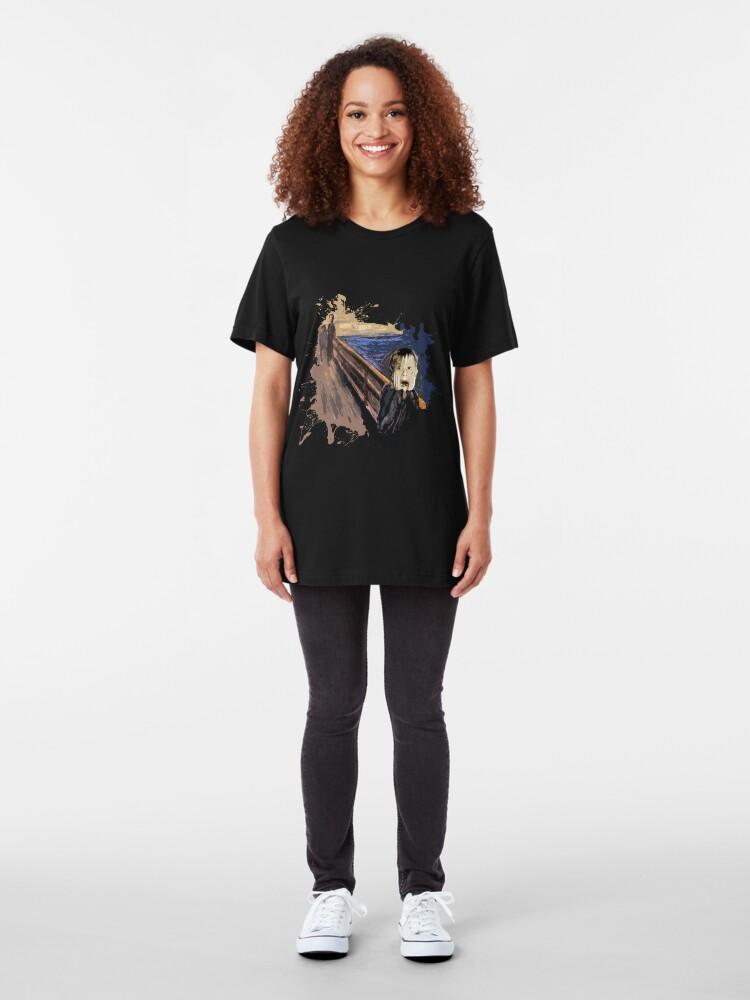 Alternate view of Scream Alone Slim Fit T-Shirt