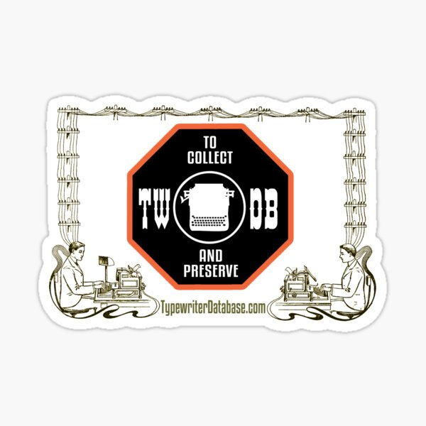 TWDB Typewriter Telegraph Sticker