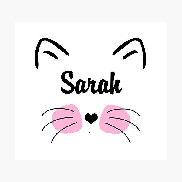 Birthday Personalised Cat Lovers Word Art Print Great Gift Mum Sister Dad