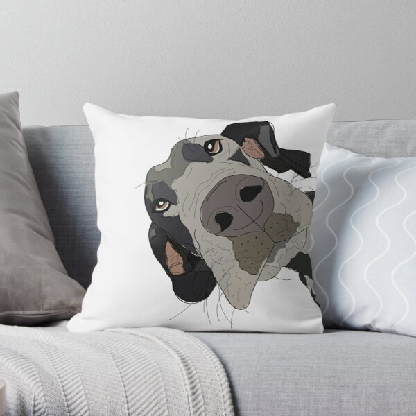 Great Dane In Your Face Dog Throw Pillow