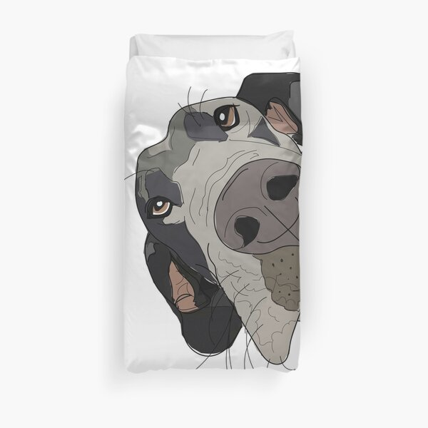 Great Dane In Your Face Dog Duvet Cover