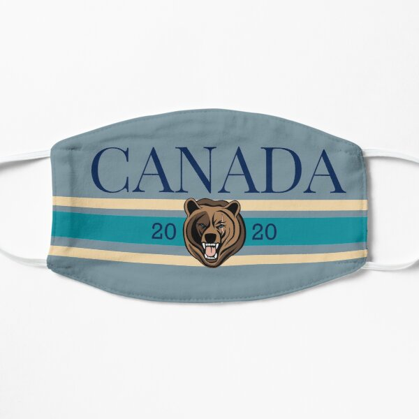 Blue and White - Canada  - Grizzly Bear 2020  Flat Mask