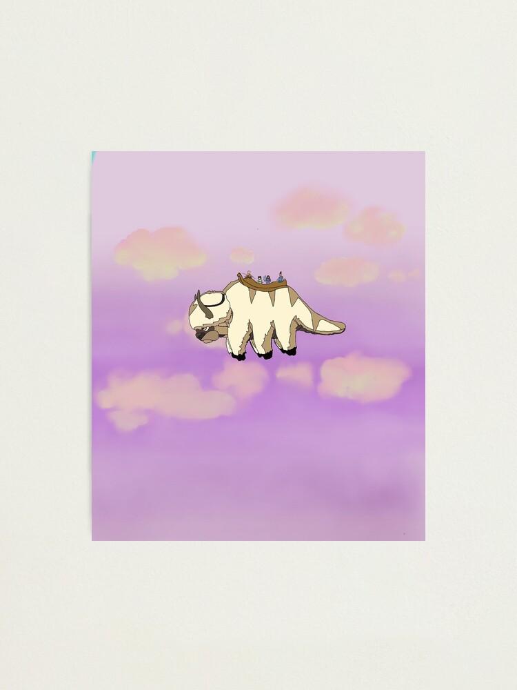 Flying Appa A5 Print