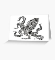 Aorta VI Squid Greeting Card