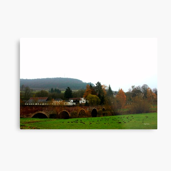German Countryside In Fall Metal Print