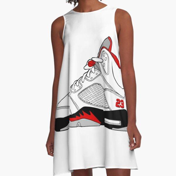 J5 - Fire Red A-Line Dress