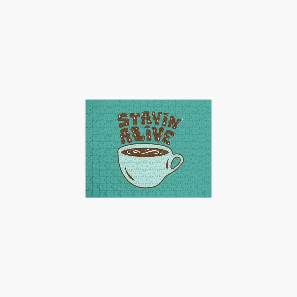 Stayin' Alive in Turquoise Jigsaw Puzzle