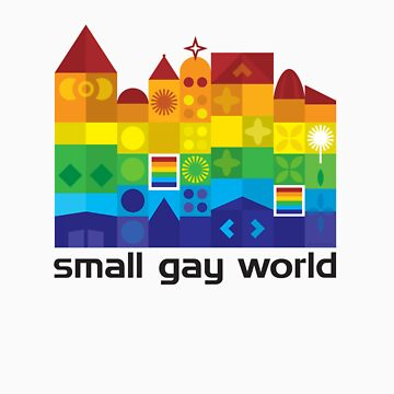 Small Gay World - Light Background by BearPounder