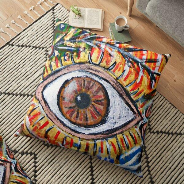 Eye painting Floor Pillow