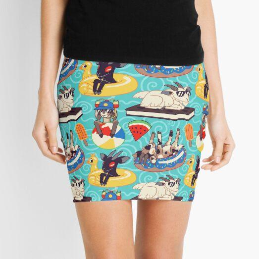 Floaty Goats Mini Skirt