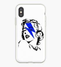 Blue flash Marilyn stardust iPhone Case