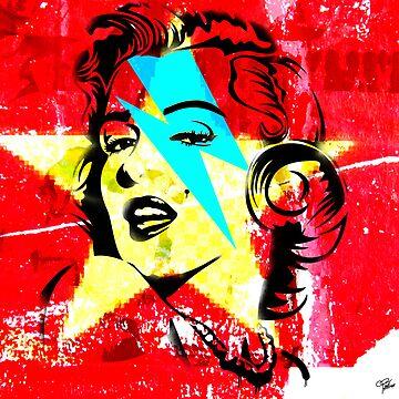 Blue flash Marilyn stardust 2 by morganPASLIER
