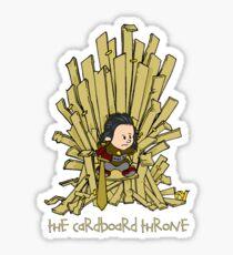 The Cardboard Throne Sticker