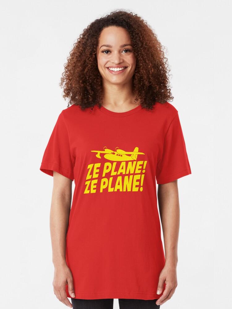 Alternate view of Ze Plane, Ze Plane Slim Fit T-Shirt