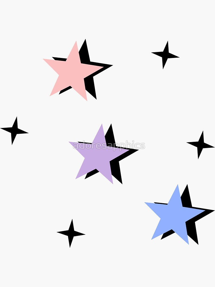 pastel bisexual flag color stars by adoresapphics