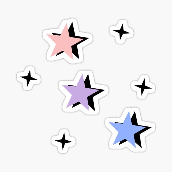 pastel bisexual flag color stars Sticker