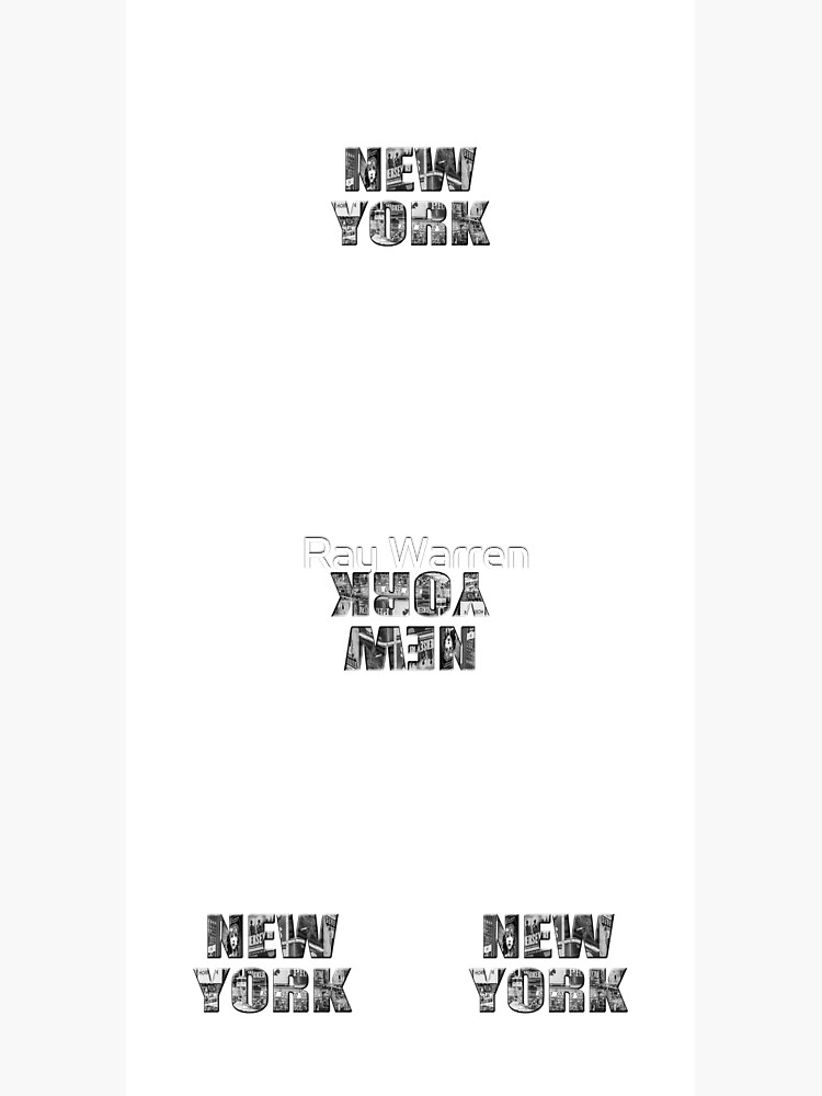 New York (b&w photo filled flat type on white) by RayW