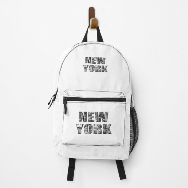 New York (b&w photo filled flat type on white) Backpack