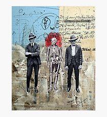 HOMBRES QUE CAMINAN DE LA MANO CON LA MUERTE (men who walk hand to hand with death) Photographic Print