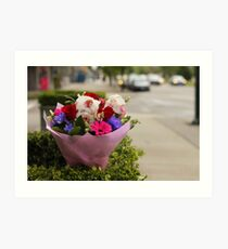 A Bouquet on Cambie Street Art Print
