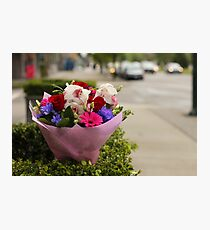 A Bouquet on Cambie Street Photographic Print