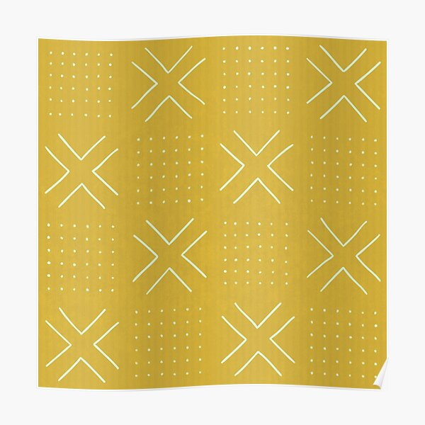 Yellow mudcloth Poster