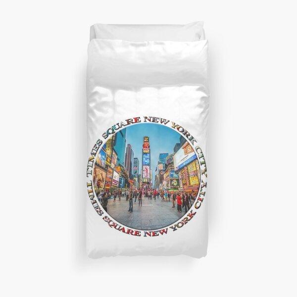 Times Square Sparkle (badge on white) Duvet Cover