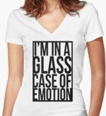 Glass Case of Emotion Women's Fitted V-Neck T-Shirt